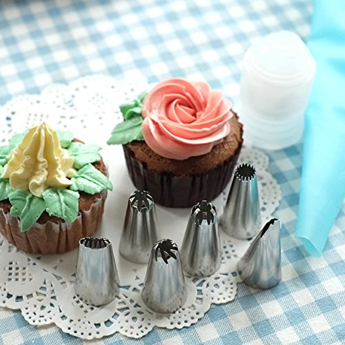 Cake Decorating Bag Tips : Cake Decorating Tools Icing Piping Nozzles Tips and Bags ...