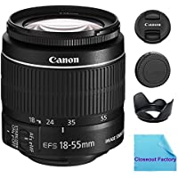 Canon EF-S 18-55mm f/3.5-5.6 IS SLR Lens (White Box) For EOS Rebel XS, XSi, XT, XTi, T1i, T2i, T3, T3i, T4i, T5, T5i, 10D, 20D, 30D, 40D, 50D, 60D, 70D, 7D Digital SLR Cameras