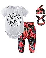 Derouetkia Newborn Baby Girls 3Pcs Outfit Set...