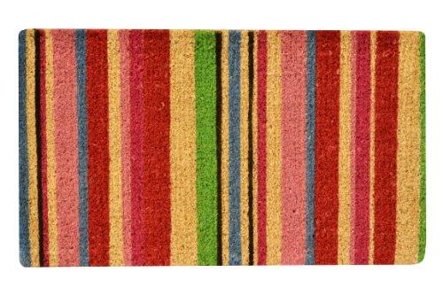- No Trax Designs C11S1830ST Stripes Coir Door Mat, 18