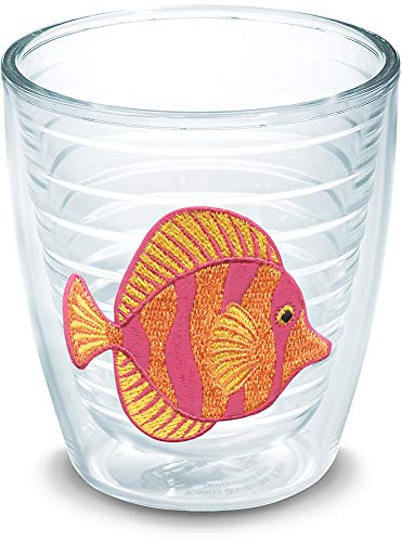 Tervis 1046391 Tropical Fish Tumbler with Emblem 12oz, Clear