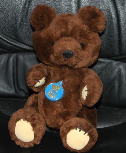 Dakin & Co. Plush Stuffed Animal Teddy Bear Poseable Dark Brown 12