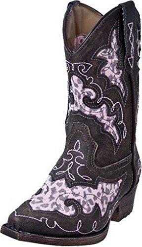 "Laredo Girl's Sabre 8"" Boots,Pink,13 M Little Kid"