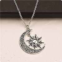 Collar de luna y sol Collar de luna Collar de sol Colgante BFF Regalo de graduación (8)