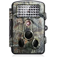 incoSKY Game Camera 1080P 12MP Wildlife Hunting Motion Activated Low Glow IR Night Vision 66ft 120° PIR Sensor with 2.4 LCD Screen IP54 Waterproof, DN2
