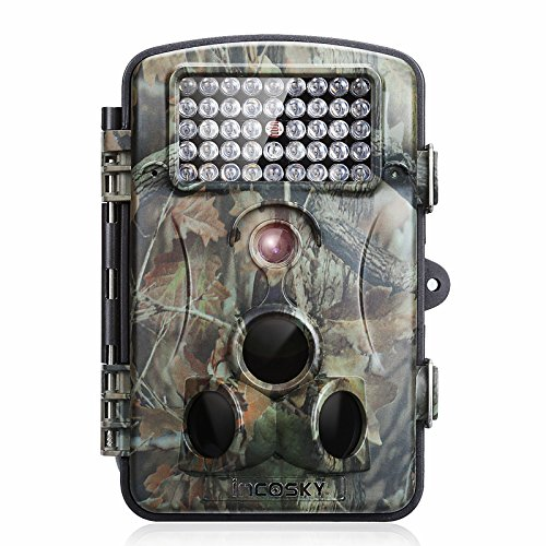 incoSKY Game Camera 1080P 12MP Wildlife Hunting Motion Activated Low Glow IR Night Vision 66ft 120° PIR Sensor with 2.4