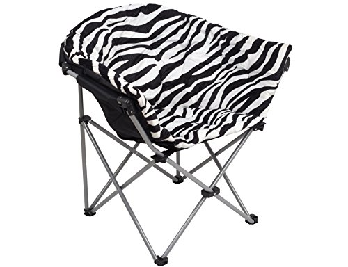GOJOOASIS Folding Saucer Chair Moon Round Soft Comfortable Club Seat for TV Living Room Dorm (Zebra) by GOJOOASIS