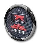 Plasticolor Grey R Racing Steering Wheel Cover