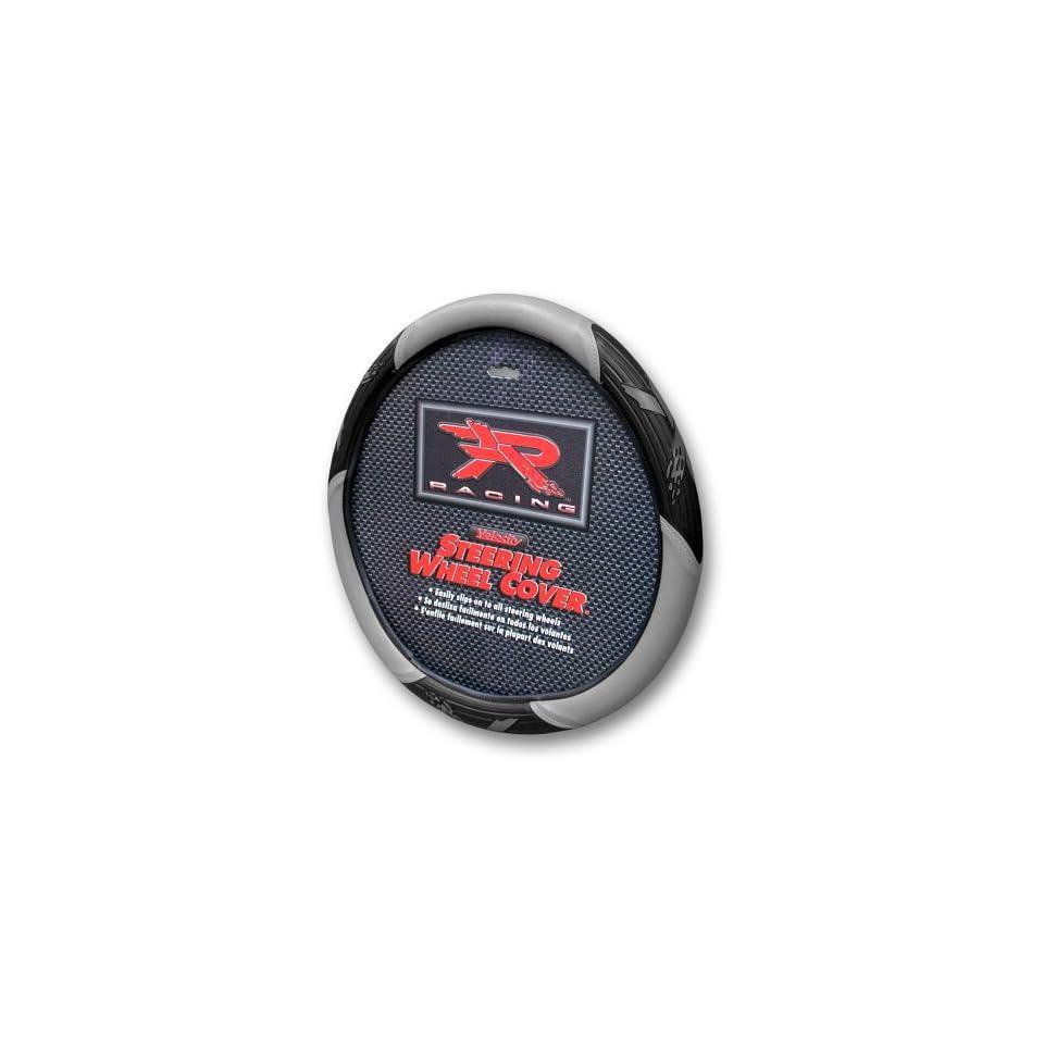 Grey R Racing Steering Wheel Cover Automotive