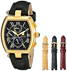 Steinhausen Women's LW393-GL Gold-Tone Automatic Watch with Four Interchangeable Bands