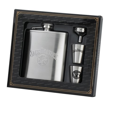 (Jack Daniels Licensed Barware 8472 Gift Set, 6 oz./1 oz, Silver)