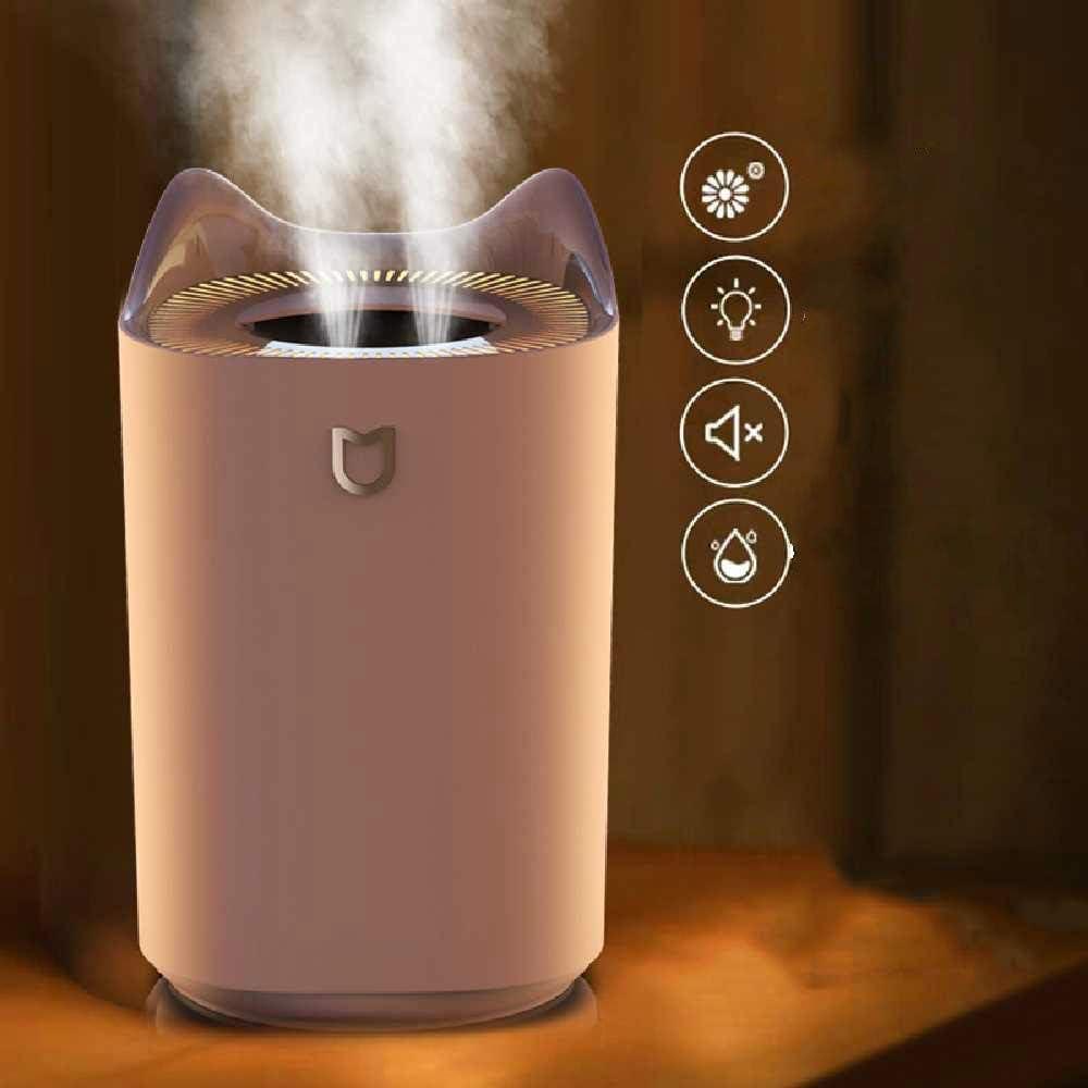 Blanc dours NoBrand Mini Humidificateur USB Color/é Voiture De Nuit Lumi/ère Maison Mignon Dessin Anim/é Machine /à Encens Silencieux 143mm et 88mm