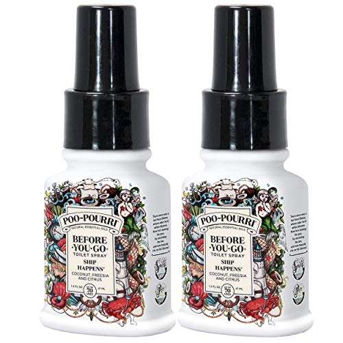 Price comparison product image Poo-Pourri Ship Happens Before You Go Toilet Spray 1.4 Ounce Bottle,  2 Pack
