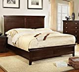 Best 247SHOPATHOME Bed Frames - Dunhill Transitional Style Brown Cherry Finish Queen Size Review