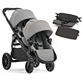 Baby Jogger City Select Lux with Second Seat Double Stroller – Slate with Bench Seat