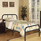 Kingpex Metal Bed Frame Twin Size Black, 6 Legs Platform Mattress Foundation with Headboard Footboard, No Box Spring Needed, for Boys Girls Kids Adult Bedroom