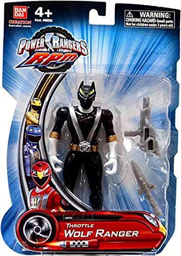 Power Rangers RPM 5 Inch Basic Action Figure Throttle Wolf Ranger Black -