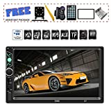 7 inch Double Din Touch Screen Car Stereo Upgrade The Latest Version MP5/4/3 Player FM Radio Video AuTDYJ Rear-View Camera Steering Wheel Remote Control Mirror Link Caller ID