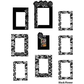 Amazon Com Self Adhesive Wall Frame Decals Black White