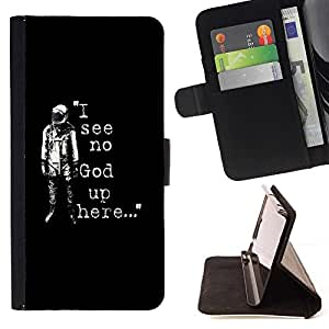 BETTY - FOR Sony Xperia Z3 D6603 - I see No God Astronaut - Style PU Leather Case Wallet Flip Stand Flap Closure Cover