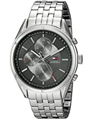 Tommy Hilfiger Mens 1791130 Sport Lux Analog Display Quartz Silver Watch