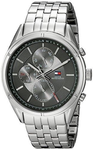 Tommy Hilfiger Men's 1791130 Sport Lux Analog Display Quartz Silver Watch