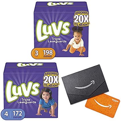 Diapers size 4 Luvs Ultra Leakguards Disposable 172 counts Baby Diapers size 4
