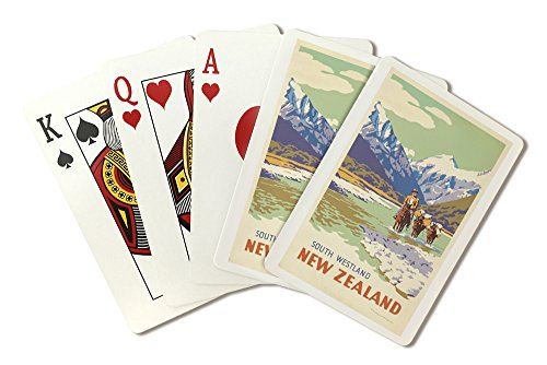 New Zealand - (artist: King, Marcus c. 1930) - Vintage Advertisement (Playing Card Deck - 52 Card Poker Size with Jokers)