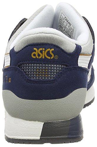 ASICS C5A4N Zapatillas de Deporte Unisexo Azul (Navy/White 5001)