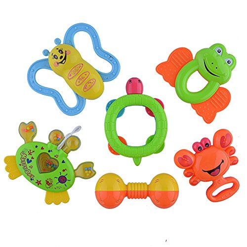 sakiyr-6-pieces-baby-rattle-and-teether-toy-play-set