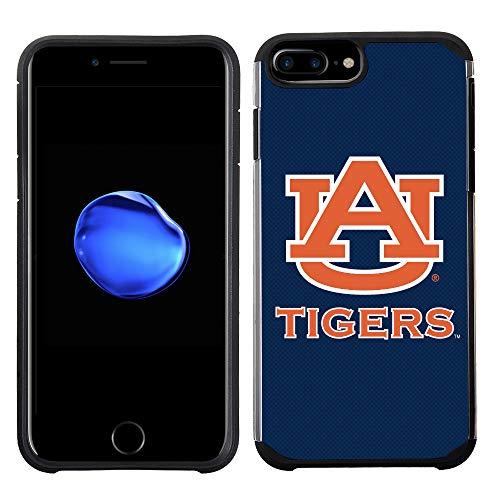 Prime Brands Group Textured Team Color Cell Phone Case for Apple iPhone 8 Plus/7 Plus/6S Plus/6 Plus - NCAA Licensed Auburn University Tigers Auburn Tigers Cell Phone Case