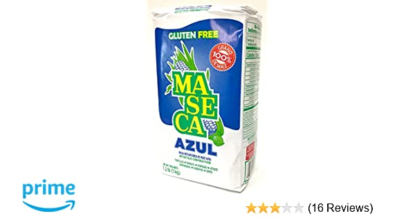 Amazon.com : Maseca Blue Corn Instant Masa Flour - Masa de Maiz Azul - 2.2 lbs : Grocery & Gourmet Food
