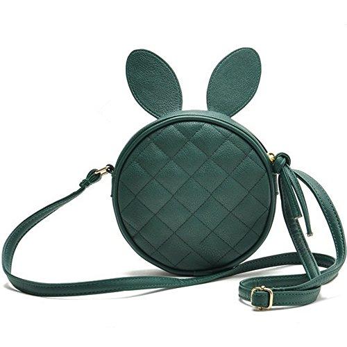 De De Verde Conejo La Moda De Coreana Hombro Bolsa Nueva La Meaeo Paquete Versión Hombro De Green Forma Lingge Orejas tRqU0qfx