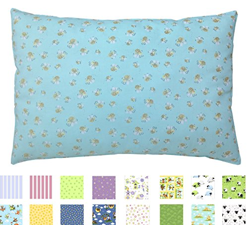 Buy Discount Toddler PILLOWCASE (14 x 19) - 100% Cotton Percale - Envelope Style - Made in Virgini...