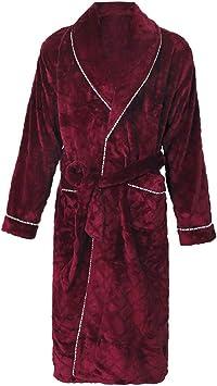 Thick Coral Fleece Bathrobe,Mens Home Service Gown