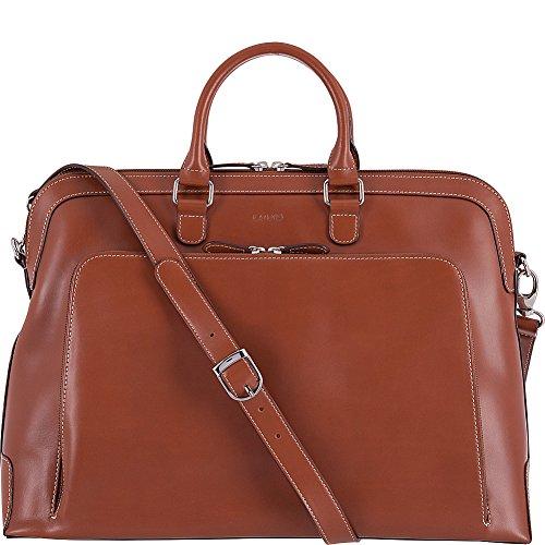 Audrey RFID Brera Briefcase Shoulder Bag, Sequoia/Papaya, One Size - Executive Briefcase Bag