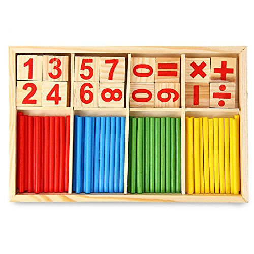 Robolife Number Cards and Counting Rods ,Montessori Math