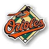"Baltimore Orioles PV 12"" Logo Magnet Heavy Duty Auto University"