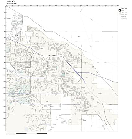 Amazon.com: ZIP Code Wall Map of Indio, CA ZIP Code Map Not ...