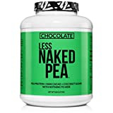 LESS NAKED PEA - CHOCOLATE PEA PROTEIN - Pea Protein Isolate from North American Farms - 5lb Bulk, Plant Based, Vegetarian & Vegan Protein. Easy to Digest, Non-GMO, Gluten Free, Lactose Free, Soy Free