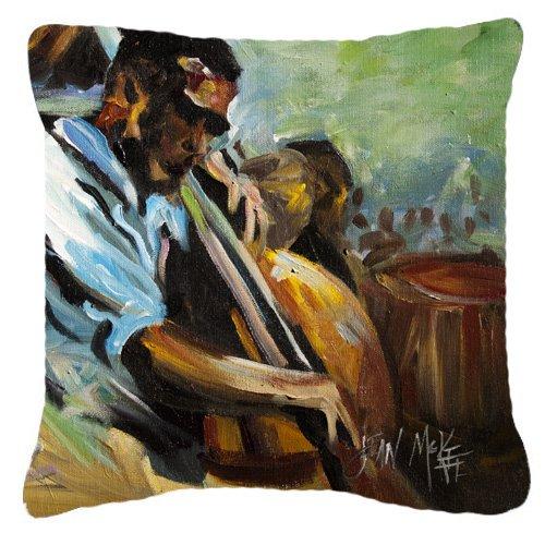 Caroline's Treasures JMK1278PW1818 Jazz Bass Canvas Fabric Decorative Pillow, 18