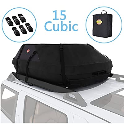15 cubic feet cargo carrier 15 cubic feet car top carrier car top carrier car top carrier without rack car top carrier for vehicles without racks car top carrier soft car top luggage