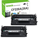 Aztech 2 Pack Replaces 26A CF226A Black Toner Cartridge 3,100 Pages Yield For LaserJet Pro M402dn M402n M402d M402dw , LaserJet Pro MFP M426dw M426fdw M426fdn , M402 M426 Series Printer