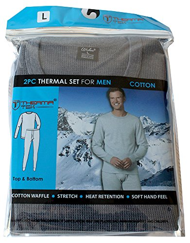therma-tek-formerly-comfort-fit-winter-mens-thermal-100-cotton-top-bottom-2-pcs-set-gray