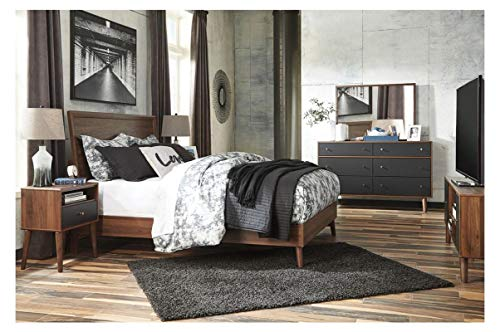 Finish Mirror Dresser Merlot (Amazing Buys Daneston Bedroom Set by Ashley Furniture - Includes, King Bed Dresser, Mirror and 2 Night Stands and Chest Drawer)