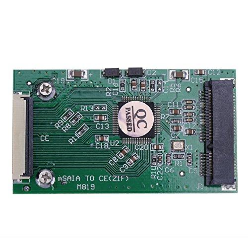 Ipod Toshiba Laptop - Mini SATA mSATA PCI-E SSD to 40pin 1.8 Inch ZIF CE Converter Card For IPOD IPAD for Toshiba or Hitachi ZIF CE HDD Hard disk