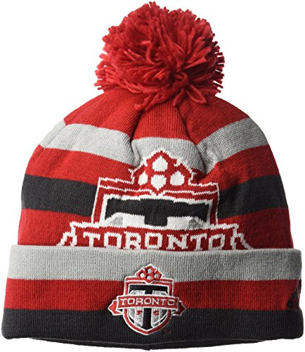 NBA Chicago Bulls Men's Standout Cuffed Knit Hat with Pom, Red, One Size