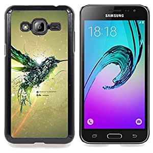 SKCASE Center / Funda Carcasa protectora - Aves Colibrí Mecánico;;;;;;;; - Samsung Galaxy J3 GSM-J300