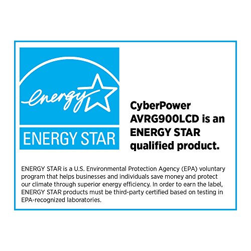 CyberPower AVRG900LCD Intelligent LCD UPS System, 900VA/480W, 12 Outlets, AVR, Compact by CyberPower (Image #6)