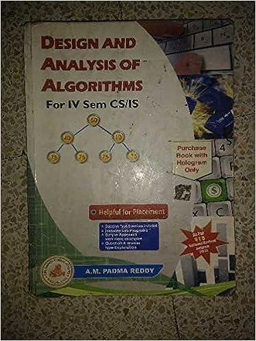 padma reddy analysis and design of algorithms book